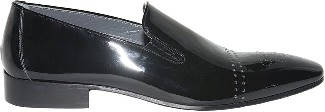Giovanni Conti 3419-03 Black Ultra Patent Leather Slip On Loafers