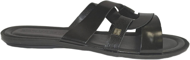 Giovanni Conti 380-S Black Leather Sandals