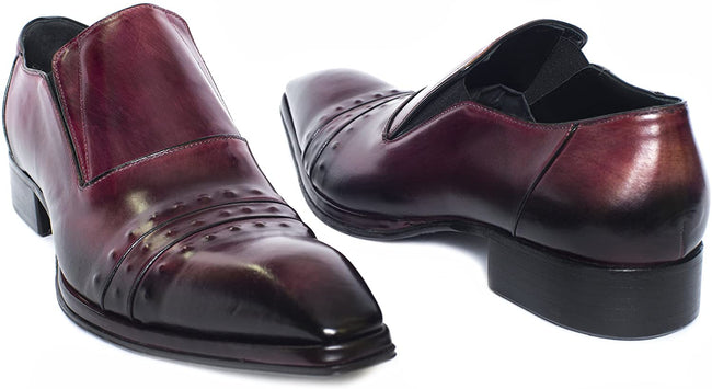 Jo Ghost 3046M Burgundy Leather Slip On Loafers