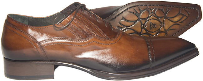 Jo Ghost 2131 Cognac Brown Leather Lace Up Shoes