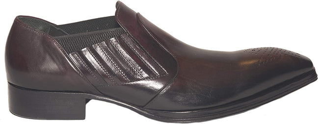 Jo Ghost 1840 Burgundy Leather Slip On Loafers