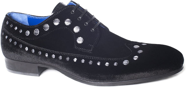 Giovanni Conti 3579-04 Suede Leather Studded Pattern Lace Up Shoes