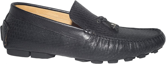 Giovanni Conti 10014-03 Black Leather Moccasins