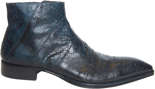 Jo Ghost 1489 Blue Lizard Print Leather Boots