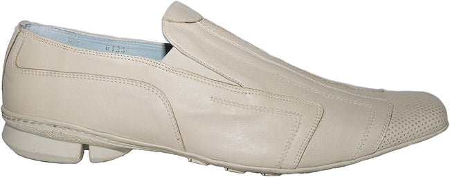 Ernesto Dollani 6133 Beige Leather Slip On Loafers