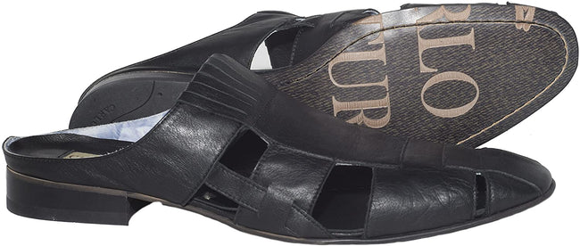 Carlo Ventura 2425 Black Leather Sliders