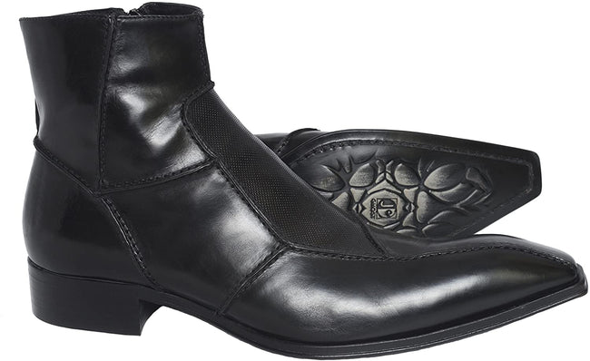 Jo Ghost 3332M Black Leather Front Trim Boots