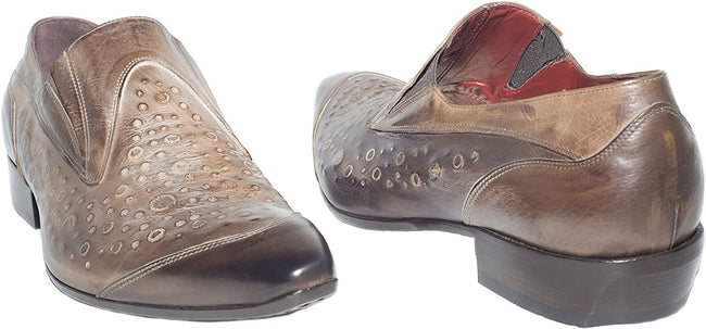 Jo Ghost 266 M Brown Leather Slip On Loafers