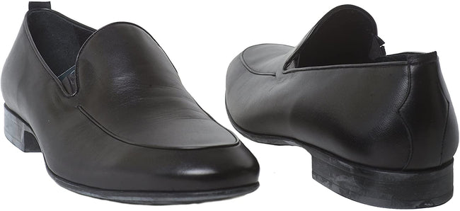 Rossi 1386 PR Black Leather Slip On Loafers