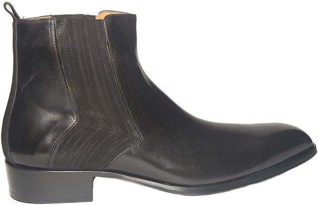 Jo Ghost 2014BIS Black Leather Suede Trim Zipper Boots
