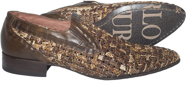 Carlo Ventura 2475 Brown Python Leather Loafers