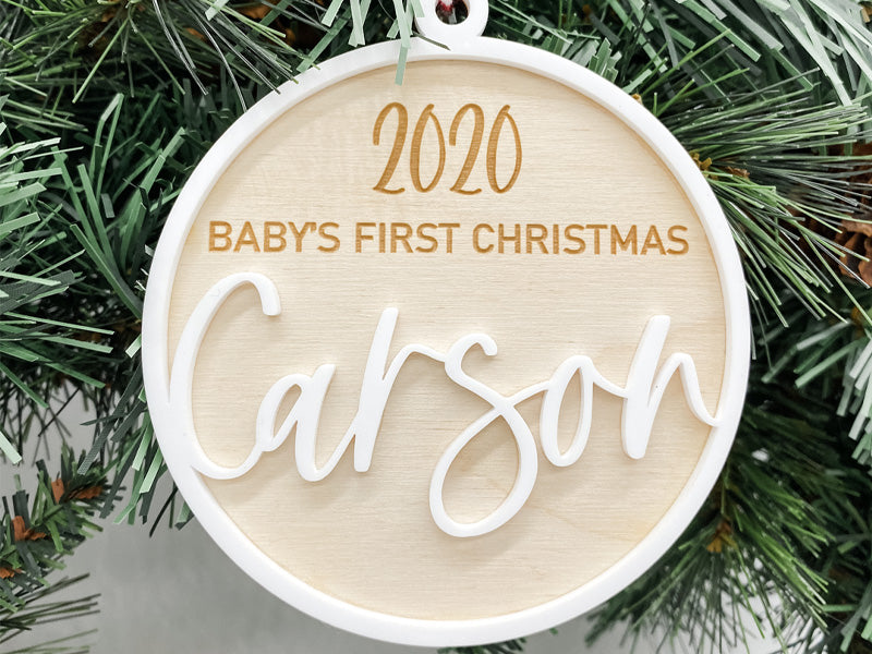 Baby's First Christmas Custom Ornament