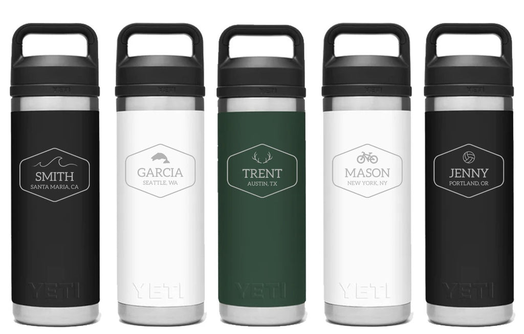 FLASH SALE ITEM - The ICON - Custom Yeti 18 oz. Rambler Bottle w/ Chug Cap