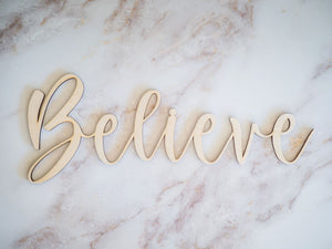 Believe Faith Sign