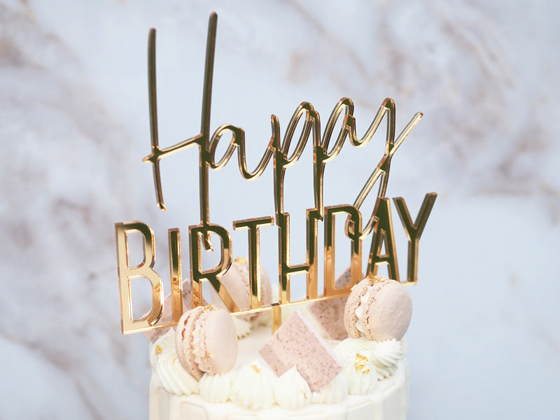 Happy Birthday - Modern Cake Topper