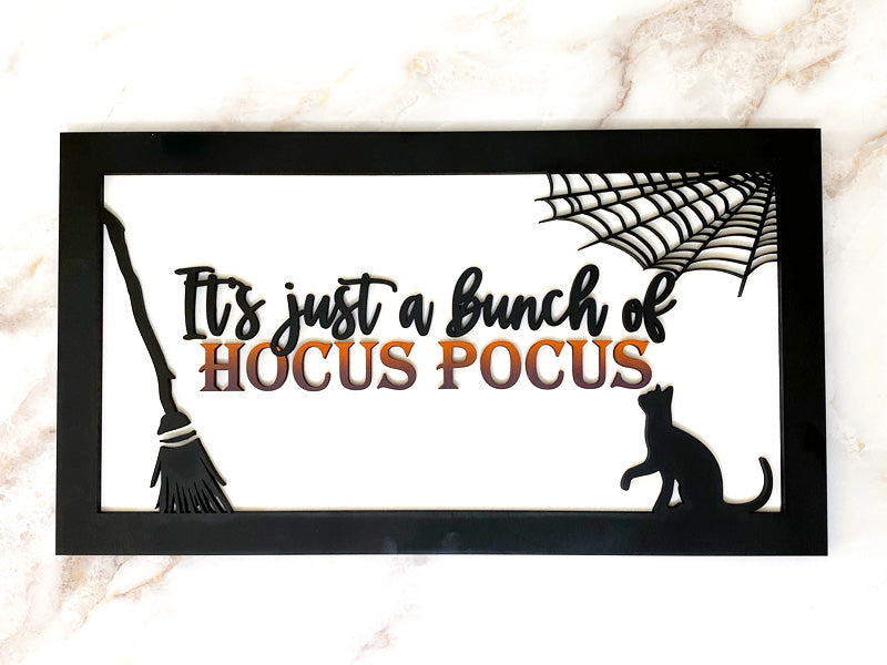 Hocus Pocus Rectangle Wood Sign