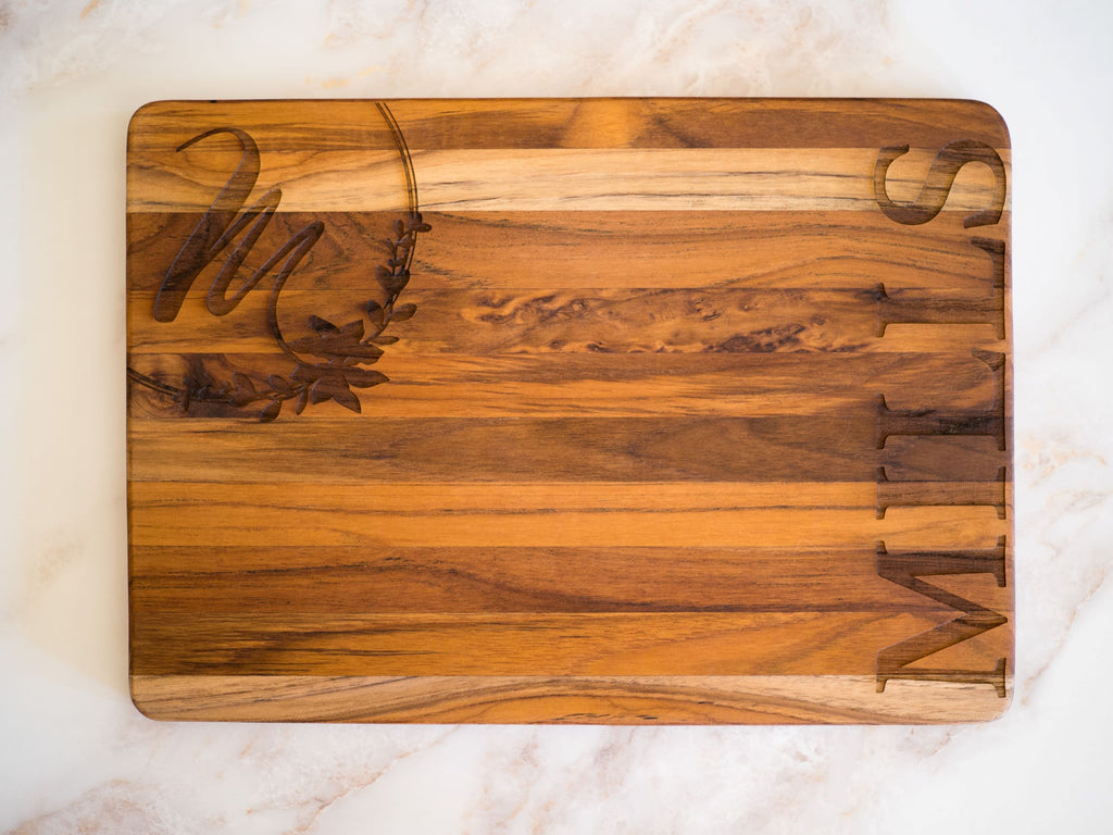 Custom Teak Cutting Board