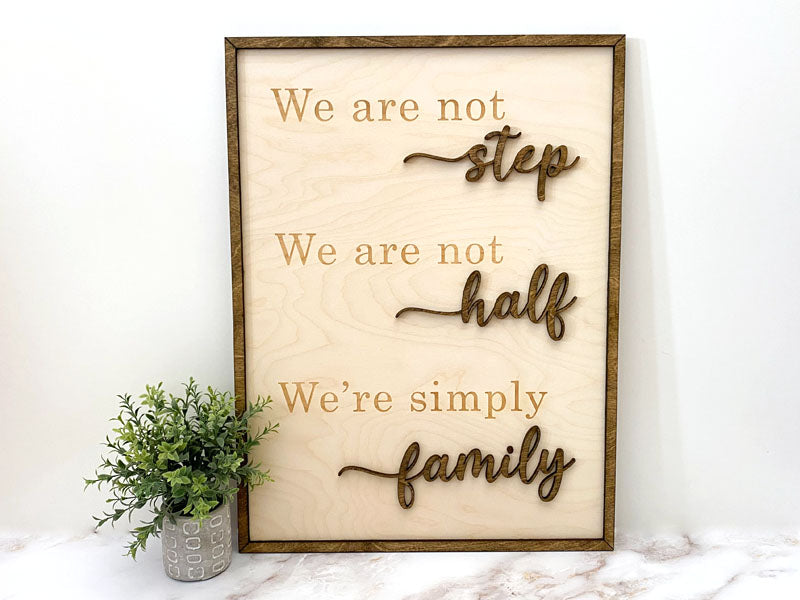 Simply Family - Wall Sign
