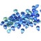 Blue green small czech glass drop beads for jewelry making craft