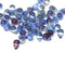 Blue purple small czech glass drop beads for jewelry making craft