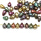 Metallic small czech glass drop beads mix for jewelry making craft