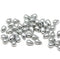 Silver small czech glass drop beads for jewelry making craft