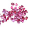 Bright pink small czech glass drop beads for jewelry making craft