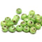 Green rondelle picasso beads authentic Czech glass jewelry supplies