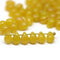 5x7mm Ocher yellow czech glass teardrop beads for jewelry making