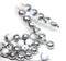 6mm White czech glass round beads with silver for jewelry making