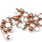 6mm White czech glass round beads with copper for jewelry making
