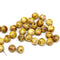 6mm Picasso light brown czech glass round beads for jewelry making