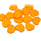 Light orange maple leaf beads, Czech glass DIY jewelry supply