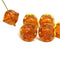 Large topaz fancy bicone Czech glass pressed beads for jewelry making