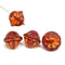 Large brown red fancy bicone Czech glass pressed beads jewelry DIY craft