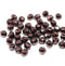 4mm Copper luster czech glass fire polished beads - 50Pc