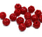 2.5mm hole Red mixed 8mm melon shape beads - 15pc