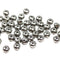 3x5mm Dark silver rondelle beads, tiny czech glass spacers - 40Pc