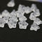 6x9mm Crystal clear czech glass flower caps, clear glass pressed bell flower beads 20Pc