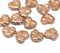 11x13mm Bright copper luster maple leaf beads - 15pc