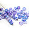 3x5mm Blue purple rondelle beads, tiny czech glass spacers - 40Pc