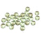 4x7mm Green gray mixed color fire polished rondelle beads - 25pc