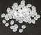 Frosted clear glass drops, czech teardrop beads for jewelry making