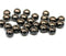 Black Czech glass rondelle beads spacers for jewelry making