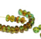 Woodland czech glass fire polished rondelle beads DIY jewelry