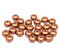 Copper metallic czech glass fire polished rondelle beads DIY jewelry