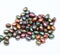 5x4mm Matte metallic beads mix czech glass rice beads jewelry making