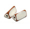 20mm Beige brown triangle ceramic beads, 2.5mm hole, 2pc