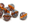 Picasso Czech glass topaz large fancy bicone beads for jewelry designs
