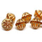 Czech glass topaz and gold large fancy bicone beads for jewelry designs